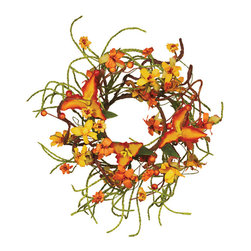 """Oddity - Oddity Christmas Party Decorative 3"""" Fall Tiger Lilly Tendril Ropes Candle Ring - Country Chic flair with contemporary touches make this faux collection the """"go to"""" for fall decorating. The colors are right, the styling is right this collection is just right for easy, carefree decor."""
