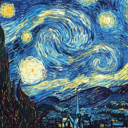 WCC - Vincent van Gogh's Starry Night Giclee Print on Highest Quality Artist's Canvas - High quality 0.56 mm thick 400 gsm cotton canvas.