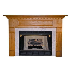 Agee Woodworks Bristol Wood Fireplace Mantel Surround - About This Fireplace MantelA remarkable addition to your living room hearth the Bristol fireplace mantel features one large panel at the top and fluted columns with large crowns and bases. Assembly is a snap since most of it is complete out of the box. The final choices are left up to you this mantel ships unfinished ready to paint or stain and install. Choose between birch or oak solids in a wide selection of custom-cut sizes.About Agee Woodworks Inc.Ashland Va.'s Agee Woodworks Inc. focuses on three key manufacturing aspects: service quality and customization. Each handcrafted Agee fireplace mantel is made to order by one specific craftsman - and with a variety of value and custom options there's one for every budget. The highest-quality materials used - and individualized construction process during which a mantel's legs header and shelf are applied to a specified-size frame - ensure long-lasting one-of-a-kind products. Mantels can be primed painted or stained before delivery or can be shipped unfinished so customers can finish them at home.