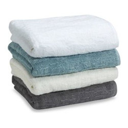 Portico - Portico Bath Towel - These soft and luxurious towels will add a touch of elegance to your bathroom decor. In addition to their beautiful look, the plush feel and impressive absorbency is sure to make them a real favorite.