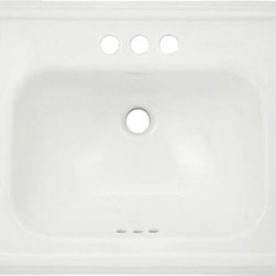 """Toto - Toto LT531.4 Cotton White Promenade Self Rimming Lavatory 4"""" Centers ADA - The Toto LT531.4#01 is a rectangular self-rimming lavatory, with Sculpted traditional Lines in the Promenade Suite from Toto USA. The Toto LT531.4#01 Measures 28"""" x 22"""", Faucet Mounts on 4"""" Center and comes in cotton white finish"""