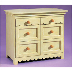 Alligator - Scallop Six Drawer Dresser | All Modern Baby