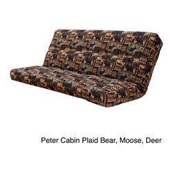 None - Outdoor Lodge Full Size Futon Cover - Complement almost any rustic,outdoor-themed decor with this full-size futon cover. In addition to an easy-care,cotton-blend construction,this fabric protector also features a zipper closure that makes it simple to use and durable.