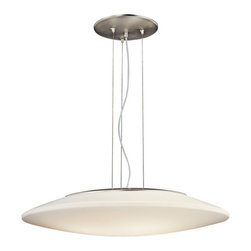 Kichler - Kichler 10711NI Ara 4-Bulb Indoor Pendant with Oval Acrylic Shade - Product Features:
