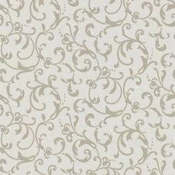 Graham and Brown - Enchantment Wallpaper - Duckegg Shimmer - You'll be enraptured by this elegant paper's fine texture and romantic design. Lustrous and brimming with leafy tendrils, it makes climbing the walls look simply stunning.