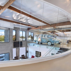 modern garage and shed by Brandon Architects, Inc.