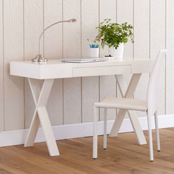 Josephine Desk - I'm smitten with the X-shaped legs on this World Market desk.