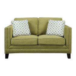 Emerald Home Furnishings - Carlton Loveseat by Emerald Home Furnishings in Caprice Waterlily - Carlton Loveseat by Emerald Home Furnishings in Caprice Waterlily