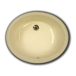 """TCS Home Supplies - Biscuit Porcelain Ceramic Vanity Undermount Bathroom Vessel Sink - 19-1/2 x 15-3 - Undermount Bathroom Vessel Sink. Porcelain Ceramic. Available in White, Biscuit, and Black. Overall Dimensions 19-1/2"""" x 15-3/4"""" x 6""""."""
