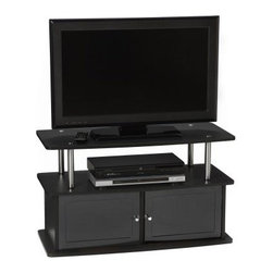 Convenience Concepts Designs2Go TV Stand with 2 Cabinets - About Convenience-Concepts IncBringing functional and affordable furniture to homes, Conceptual-Concepts Inc. is dedicated to focusing on the finest designs and economical overseas manufacturing in contemporary furniture. Their efforts are guided toward R-T-A entertainment centers, TV stands, storage, and accent furniture. Be sure to view their entire product line.