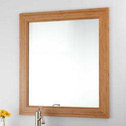 """31"""" Portola Bamboo Vanity Mirror - Substantially sized, the 31"""" Portola Bamboo Vanity Mirror is perfect for adding more depth and light to a bathroom."""