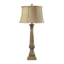 Dimond Lighting - 93-9245-LED Lyerly Table Lamp, Bleached Wood - Transitional Table Lamp in Bleached Wood from the Lyerly Collection by Dimond Lighting.