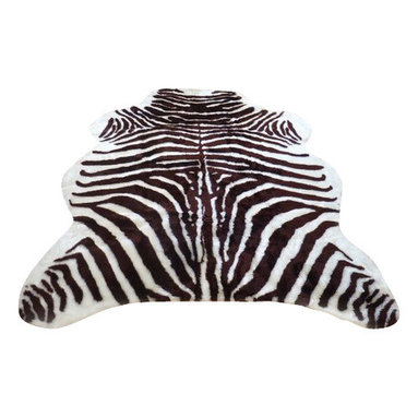 Hollywood Love Rugs - Super Plush Brown-White Faux Zebra Hide Rug 3' 5 x 4' 6 Medium - Super plush short pile Faux Zebra Hide Rug brown and white. This is a very high quality faux fur rug with a soft filling material that adds thickness and softness to this faux hide. Truly exotic with with authentic exotic animal skin rug appearance. These beautiful and affordable fake animal hide rugs are made with a rubberized non-skid backing. Washable, hypoallergenic, stain and soil resistant and naturally fire retardant without the use of chemical treatments. It's non-skid backing makes these rugs appropriate for every room in the home, including the bath or adventurous child's room. Vacuum only with hand held non-agitator vacuum. Wash with cold water and Woolite on gentle cycle and air dry.