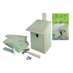 Esschert Design - Children's Build-It Yourself Birdhouse - Teach your kids to be friends of the forest in a hands-on way with this build-it yourself birdhouse. This wooden perch will give your child a sense of ownership and connection to wildlife, as they watch the birds visit the house in your backyard.