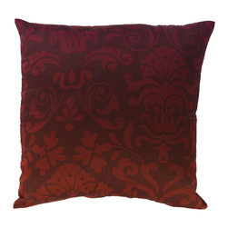 """Surya - Square Cotton Pillow SY-008 - 18"""" x 18"""" - Construct a cool contemporary look within your home with this ornate pillow. Catching the eye of any it beholds with its radiant red coloring and scroll design, this fashionable piece emanates beauty and grace in any space. This pillow contains a zipper closure and provides a reliable and affordable solution to updating your home's decor."""