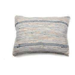 re:loom - re:loom Handwoven Medium Pillow, Blue/Orange/Yellow - *PRODUCT DESCRIPTION