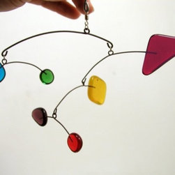 Little Rainbow Mini Mobile by Leah Pellegrini - A tiny hit of color, this Little Rainbow Mini Mobile would look great hung high above a changing table or in a reading nook.