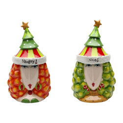 Apple Tree - Dollymama's Colorful Spin Around Naughty and Nice Cookie Jar - This gorgeous Dollymama's Colorful Spin Around Naughty and Nice Cookie Jar has the finest details and highest quality you will find anywhere! Dollymama's Colorful Spin Around Naughty and Nice Cookie Jar is truly remarkable.