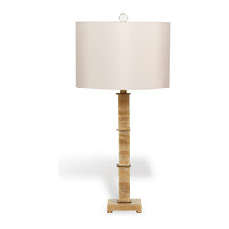 Port 68 - Rialto Lamp, Marble Gold - This Rialto Marble Gold Lamp combines a sleek silhouette with a classic white shade. Featuring a gold Tuscan marble base, square gold leaf disk accents, brass feet and a crystal ball finial, this lamp brings a sense of novelty to an otherwise ordinary decor. Display it in the bedroom or living room for a chic, but understated look. 150 watt maximum, 3-way switch.  UL Listed.