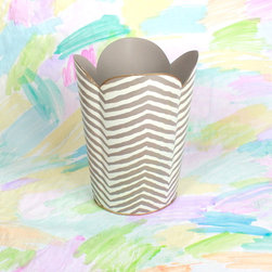 Grey Zebra Wastebasket - Don't overlook places to add form to function. This zebra waste basket is a great example of including design in everyday items.