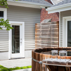 Transitional Patio by Howells Architecture + Design, LLC