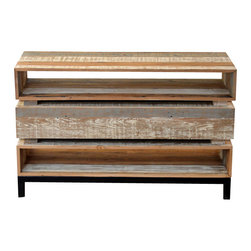 Rustic media storage find tv stands and media console for Buy reclaimed wood los angeles