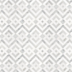Signet Collection Parquet Solid Mosaic - Love this parquet as a different pattern to basketweave or hex. I love the cool tones in this stone. Could work as a kitchen backsplash or a bathroom floor.