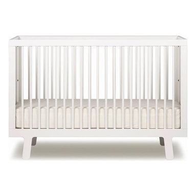 """Oeuf - Sparrow Crib by Oeuf, White - Fits a standard 28""""W x 52""""L crib mattress (not included). Mattress must be at least 27.25""""W x 51.625 """"L and 4-6"""" thick. Oeuf products meet or exceed all ASTM safety standards and are tested by Intertek Labtest to assure compliance. Oeuf is a member of JPMA."""