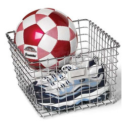 Chrome Wire Locker Storage Basket - Stash sports equipment or books in these removable wire bins.
