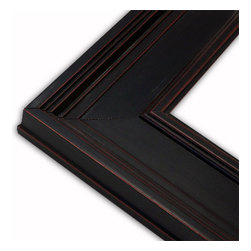 The Frame Guys - Wide Oxford Black Picture Frame-Solid Wood, 10x10 - *Wide Oxford Black Picture Frame-Solid Wood, 10x10