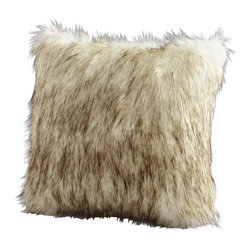 Cyan Design - Cyan Design Prairie Wolf Pillow - Perfect for rustic, traditional or contemporary spaces, this Cyan Design decorative pillow is inspired by the wild wolf. This prairie wolf pillow features a faux fur facade, complete with a life-like color palette for a more realistic appeal.