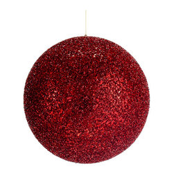 Silk Plants Direct - Silk Plants Direct Glittered Ball Ornament (Pack of 4) - Pack of 4. Silk Plants Direct specializes in manufacturing, design and supply of the most life-like, premium quality artificial plants, trees, flowers, arrangements, topiaries and containers for home, office and commercial use. Our Glittered Ball Ornament includes the following: