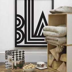 Blank & White Modern Art Print By One Must Dash- Small Talk - One Must Dash- Small Talk (Large)