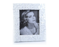 """Concepts Life - Concepts Life Photo Frame  Sacred Mantle  White  8x10"""" - Add luxurious shimmer and texture to your most beloved photographs with these Sacred Mantle Photo Frames. These dazzling white frames feature a shell like finish and look stunning when they catch a ray of light.  Modern home accent Contemporary white picture frame Beautiful and elegant home accent Rectangular photo frame Made of polyresin Textured glossy finish Easel back for horizontal or vertical display Various sizes available Holds 8 x 10 in. size photo Dimensions: 12""""w x 14""""h x 1.5""""d Weight: 3.5 lbs"""