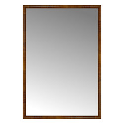 """Posters 2 Prints, LLC - 53"""" x 77"""" Belmont Light Brown Custom Framed Mirror - 53"""" x 77"""" Custom Framed Mirror made by Posters 2 Prints. Standard glass with unrivaled selection of crafted mirror frames.  Protected with category II safety backing to keep glass fragments together should the mirror be accidentally broken.  Safe arrival guaranteed.  Made in the United States of America"""