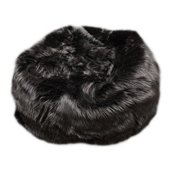 "Fun Furnishings - Fuzzy Fur Bean Bag Chair - Inner liner securely contains fire retardant beads. Refillable too! And the outer cover is removable for easy washing!. Features: -Lightweight and easily moved.-Durable, removable and washable slip cover.-Made in the USA.-Distressed: No.-Material: Fire Retardant Beads.-Stain Resistant: No.-Fill Included: Yes -Fill Material: Polyurethane beads.-Pre-Filled: Yes..-Refillable: Yes.-Removable Cover: Yes.-Zipper Closure: Yes.-Childproof Closure: Yes.-Pocket Included: No.-Handle Included: No.-Recommended Age: 5 - Adult.-Seating Comfort: Medium.-Seating Capacity: 1.-Weight Capacity: 150.-Swatch Available: Yes.-Commercial Use: Yes.-Recycled Content: No.-Product Care: Machine wash cold, hang dry.-Country of Manufacture: United States.Dimensions: -Overall Height - Top to Bottom (Size: 84""): 20.-Overall Height - Top to Bottom (Size: 90""): 20.-Overall Width - Side to Side (Size: 84""): 26.-Overall Width - Side to Side (Size: 90""): 28.-Overall Depth - Front to Back (Size: 84""): 26.-Overall Depth - Front to Back (Size: 90""): 28.-Circumference (Size: 84""): 84.-Circumference (Size: 90""): 90.-Overall Product Weight (Size: 84""): 8.-Overall Product Weight (Size: 90""): 10.Assembly: -Assembly Required: No.-Additional Parts Required: No.Warranty: -Product Warranty: 30 Day manufacturer warranty."