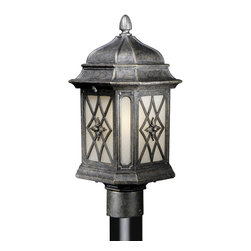 Vaxcel - Sardinia Vintage Patina Outdoor Post Light - Vaxcel ES-OP51095VT Sardinia Vintage Patina Outdoor Post Light