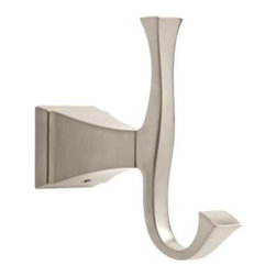 Liberty Hardware - Liberty Hardware 128890 Dryden - Delta 4.94 Inch Hook - The clean lines and geometric forms of the Dryden Collection are based on style cues of the Art Deco period. The simple, yet sophisticated design, when combined with multiple finish options, creates style flexibility that's at home in settings from old-world to arts and crafts to modern. Width - 4.94 Inch, Height - 1.75 Inch, Projection - 4.63 Inch, Finish - Brilliance Stainless Steel, Weight - 0.9 Lbs.