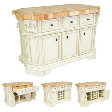 Traditional Kitchen Islands And Kitchen Carts by CJ's Home Decor & Fireplaces