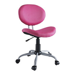 Modway - Gina Task Chair in Pink - Make your office space work for you without the work. Let the simple sleek design guide you through a comfortable day at the office.