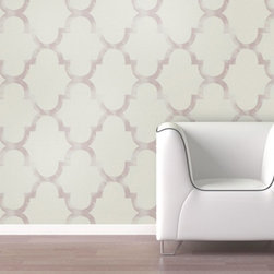 Swag Paper - Swag Paper Distressed Trellis Self-Adhesive Wallpaper - DISTRELLRASP4 - Shop for Wallpaper from Hayneedle.com! You ve never used wallpaper as easy and stylish as the Swag Paper Distressed Trellis Self-Adhesive Wallpaper. Engineered for hassle-free creation of a DIY designer style these self-adhesive panels feature a distressed trellis pattern in your choice of color and can be easily removed and repositioned (and even reused) as needed. Created with an inch of width overlap for perfect seams and pattern matches these 26W inch panels are available in a range of standardized heights for easy fitting on any wall.The Tools You'll Need:Tape measureSpongeStraight edgeLevel (optional)Utility knife or razor bladePlastic smoother (a credit card also works)Step stool or ladderEasy Installation Instructions:Measure the width of your wall in feetDivided the width by 2 to find the number of panels you'll needPeel backing by about 8 to 12 inches and apply to wallSmooth overKeep pulling the backing away in 8- to 12-inch incrementsTrim off the excess materialOverlap panels by 1 inch to match patternsCreate a butt seam by cutting the top overlapping layer of wallpaper removing it and smoothing overSwag Paper - Empowering the Do-It-Yourselfer:Forget the paste the crinkles and cutting rolls of wallpaper to make the patterns match. Dave and Daniela Fields a brother-and-sister team developed Swag Paper for Do-It-Yourselfers with high aspirations and little time. Their adhesive-backed panels apply in a fraction of the time it takes to apply traditional wallpaper and all you really need in the way of tools is a tape measure sponge straight edge utility knife and credit card. Swag Paper is removable non-destructive and residue free making it the go-to solution for renters with big decorating plans.About Swag PaperFounded in Chicago by a brother-and-sister team Swag Paper is the first company to create a truly DIY wall decorating solution that puts a luxury designer look within reach of any budget. Their pre-cut peel and stick panels feature handcrafted poly-weave fabric and exclusive patterns printed with premium inks with panels sized and colored to match common room dimensions and popular paint brands. Perfect for renters or restless redecorators be they amateur or professional Swag Paper wall panels are repositionable removable and reusable and custom cut with overlap for seamless pattern matches in a range of standard wall heights.