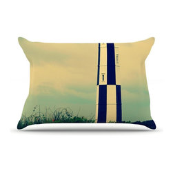 """Kess InHouse - Robin Dickinson """"New Cape Henry"""" Lighthouse Pillow Case, Standard (30"""" x 20"""") - This pillowcase, is just as bunny soft as the Kess InHouse duvet. It's made of microfiber velvety fleece. This machine washable fleece pillow case is the perfect accent to any duvet. Be your Bed's Curator."""