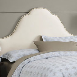 RR - Arch Nail Button Upholstered Headboard - Arch Nail Button Headboard in Multiple Fabrics