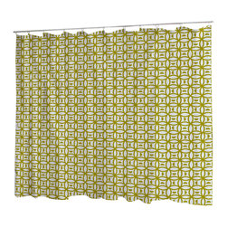 Uneekee - Uneekee Rodeo Gold Circular Shower Curtain - Your shower will start singing to you and thanking you for such a glorious burst of design as you start your day!  Full printing on the front and white on the back.  Buttonhole openings for shower rings.