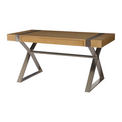Hammary Flatiron 60 Inch Desk in Sabdy Brown