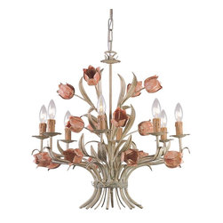 Crystorama - Crystorama Southport Chandelier X-RS-8084 - The Southport collection is evocative of vintage tole fixtures. We offer it in a vintage, soft hand painted finish or glossy white. The high-end designer finish lends a contemporary feel to the whimsical collection.