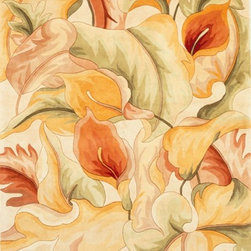 Kas - Country & Floral Catalina 5'x8' Rectangle Ivory Area Rug - The Catalina area rug Collection offers an affordable assortment of Country & Floral stylings. Catalina features a blend of natural Black color. Hand Tufted of 100% Wool the Catalina Collection is an intriguing compliment to any decor.