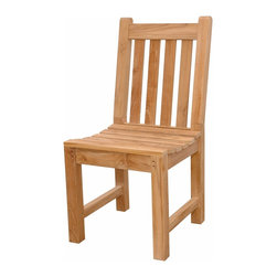 Anderson Teak - Classic Dining Chair - This simple traditional style-dining chair will never go out of style, but quietly blends with any other design. The seat is very sturdy as well as the back. Place this chair in your backyard with the dining table, will amazed your family or friends. Cushion is optional and is being made by order.