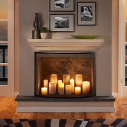 """The Martino Mantel Shelf - Strong lines and crisp curves make this versatile shelf especially stunning in a modern home. Available in either 48"""" or 60"""" lengths."""