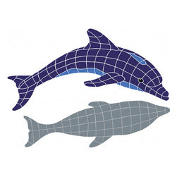 "Glass Tile Oasis - Dolphin  Diving with shadow Pool Accents Blue Pool Glossy Ceramic - Sheet size:  32"" x 42""     Tile thickness:  1/4""   Sheet Mount:  Mesh Backed    Sold by the piece   - We offer six lines of in-stock designs ready for immediate delivery including: The Aquatic Line  The Shadow Line  The Hang 10 Line  The Medallion Line  The Garden Line and The Peanuts® Line.All of the mosaics are frost proof  maintenance free and guaranteed for life.Our Aquatic Line includes: mosaic dolphins  mosaic turtles  mosaic tropical and sport fish  mosaic crabs and lobsters  mosaic mermaids  and other mosaic sea creatures such as starfish  octopus  sandollars  sailfish  marlin and sharks. For added three dimensional realism  the Shadow Line must be seen to be believed. Our Garden Line features mosaic geckos  mosaic hibiscus  mosaic palm tree  mosaic sun  mosaic parrot and many more. Put Snoopy and the gang in your pool or bathroom with the Peanuts® Line. Hang Ten line is a beach and surfing themed line featuring mosaic flip flops  mosaic bikini  mosaic board shorts  mosaic footprints and much more. Select the centerpiece of your new pool from the Medallion Line featuring classic design elements such as greek key and wave elements in elegant medallion mosaic designs."